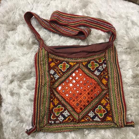 3c3c6cf819 Moroccan Boho Patchwork Embellished Crossbody Bag.  M 5b2c63709539f7d0a4b8e803